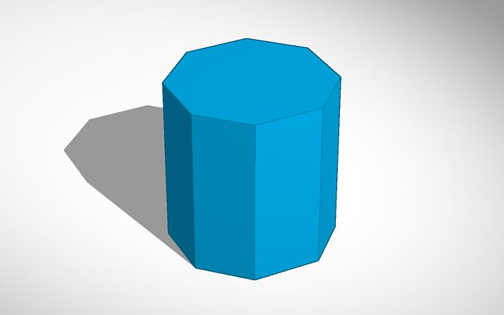 3D design Octagonal Prism.