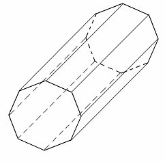 octagonal prism how to draw
