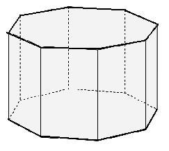 Octogonal prism Area, Volume, Surface Area Calculator.