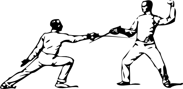 Fencing Parry Of Octave clip art Free Vector / 4Vector.