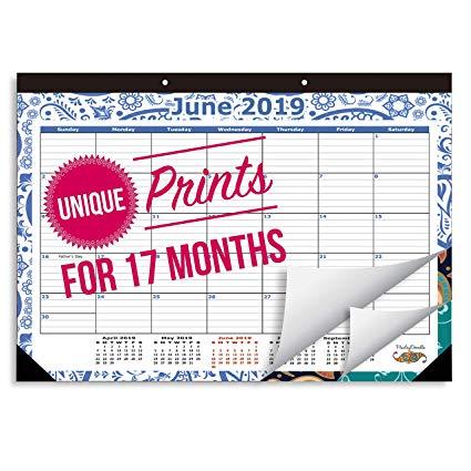 2019 Desk Calendar Runs from October 2018 Through December 2019, Desk  Calendar is Medium Sized 16 3/4\
