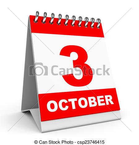 October 3rd Clipart.