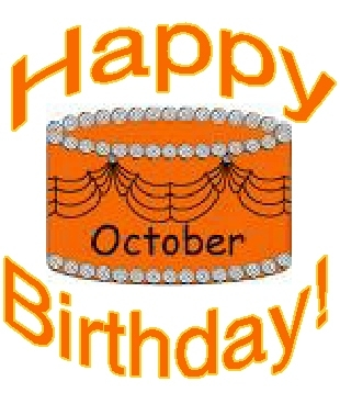Happy Birthday October Clipart.