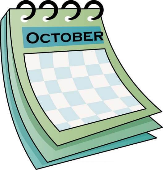 October Clipart.