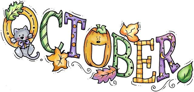 Welcome October Clip Art Free.