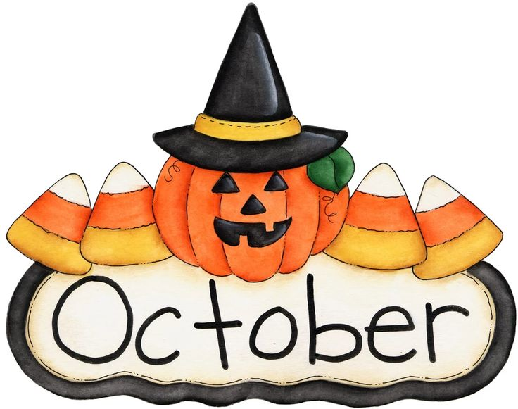 October Clipart Images.