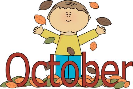 October clipart for teachers.