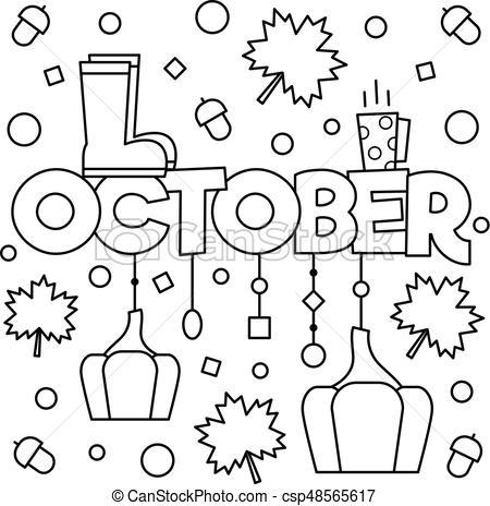 October clipart black and white 5 » Clipart Portal.