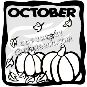 October clipart black and white 3 » Clipart Station.