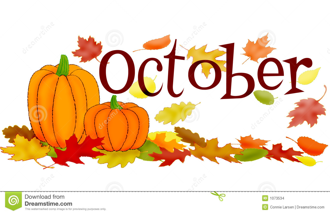 October Word Clipart.