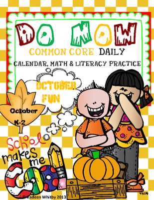DO NOW common core October Morning Work.