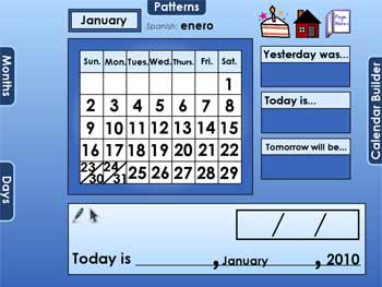 Morning calendar clipart.