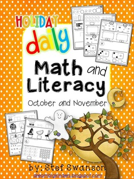 Daily Math and Literacy {October and November} by Stef Swanson.