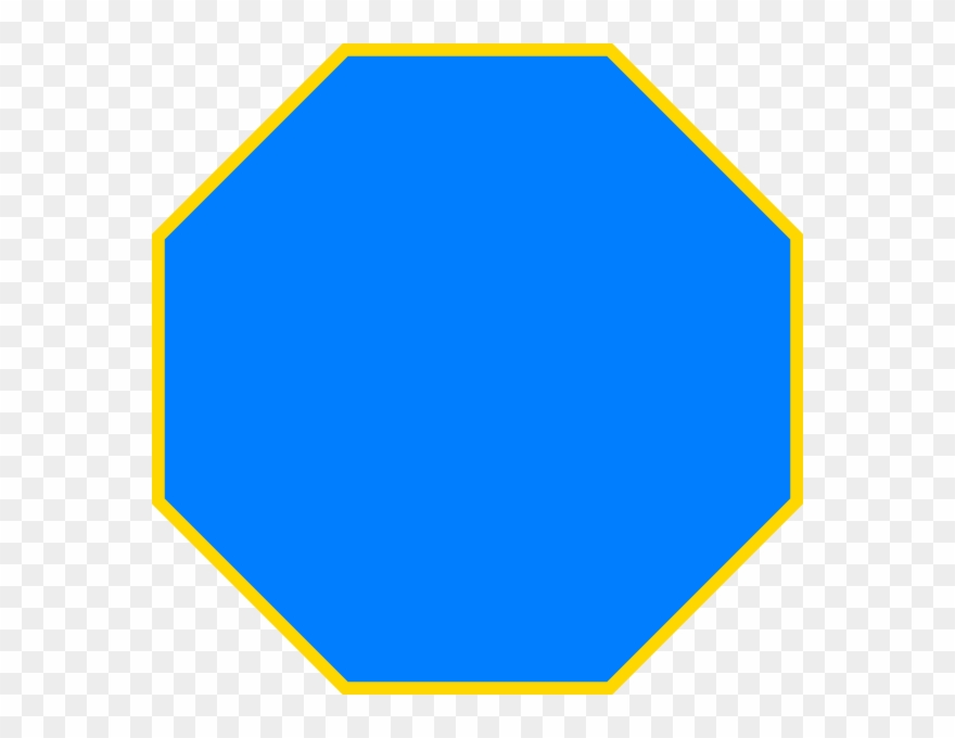 Blue Octagon Clip Art At Clker Com.