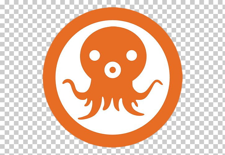 Octonauts Symbol, orange and white octopus logo PNG clipart.