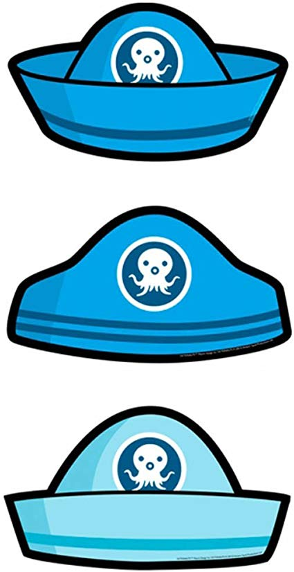 Pack Of 6 Blue Octonauts Card Hats.