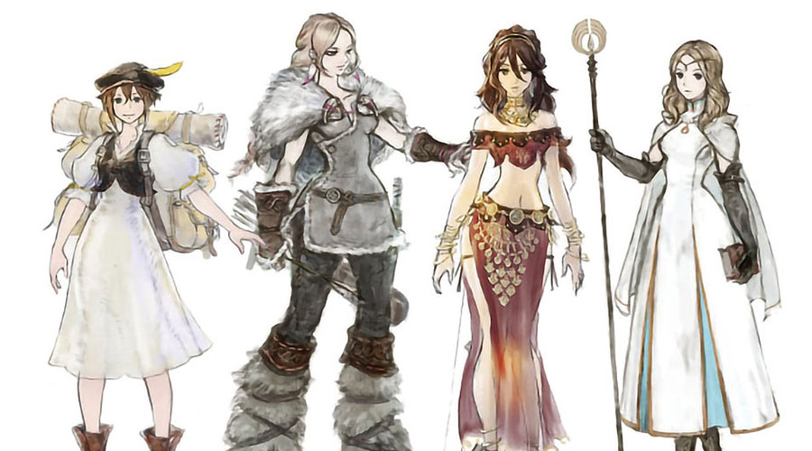 Octopath Traveler Concept Art & Characters.