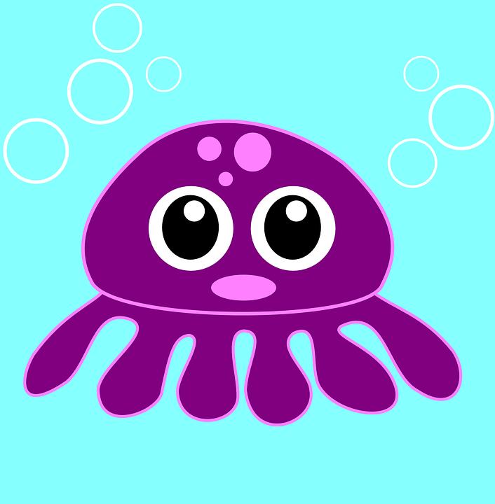 Free vector graphic: Squid, Octopus, Kraken, Sea Life.