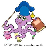 Octopod Clip Art and Stock Illustrations. 4 octopod EPS.
