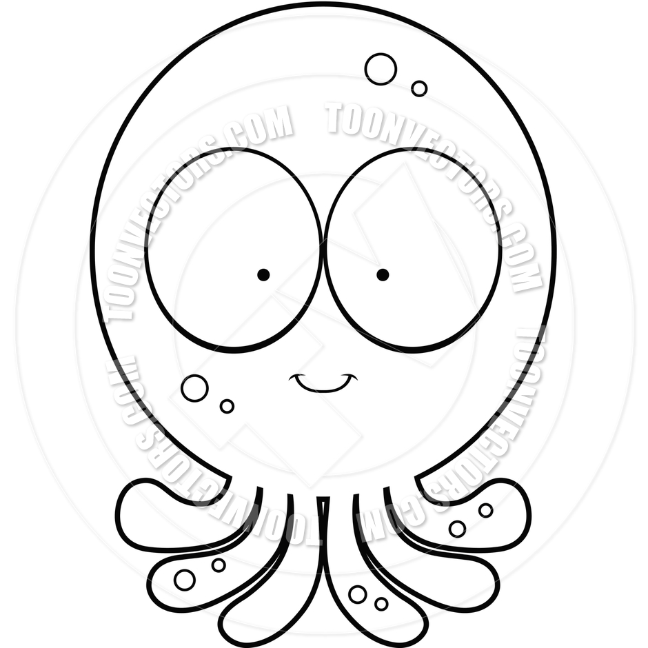 Octopus Clipart Black And White.