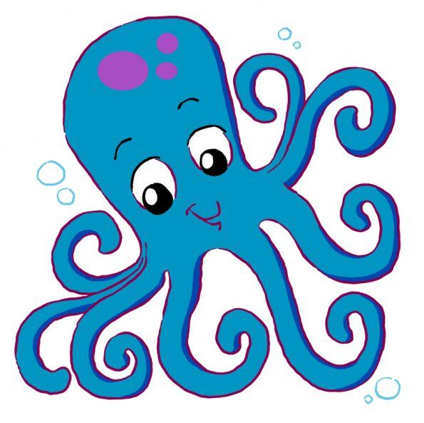 Cartoon octopus coloring pages clipart free clip art images.