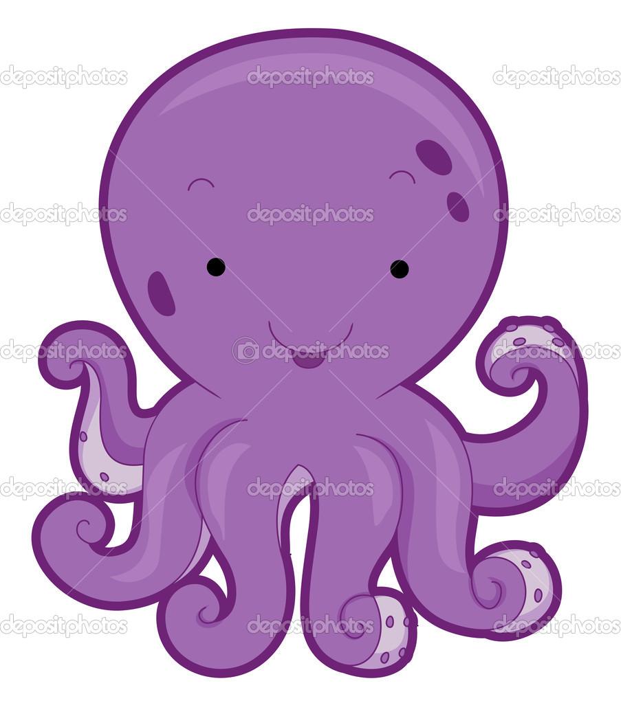 Cute Octopus Clipart.