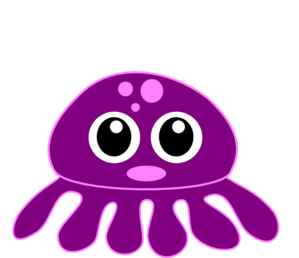 Cute Baby Octopus Clipart.
