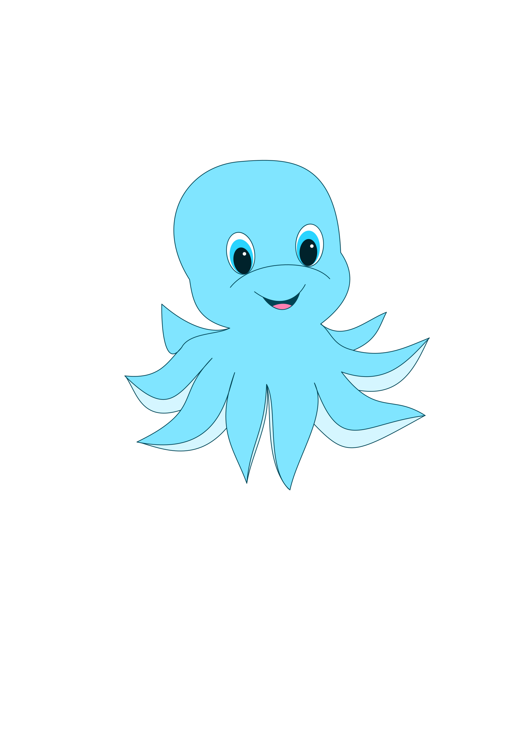 Clipart Cute Octopus.