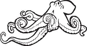 Coloring Book Octopus Clip Art at Clker.com.
