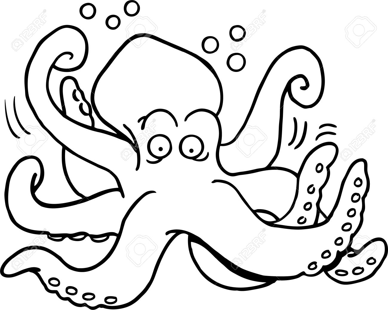 Vector and Octopus Clipart Black And White 1579 Favorite.