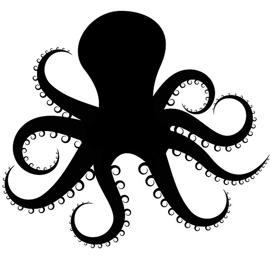 octopus clipart outline #2