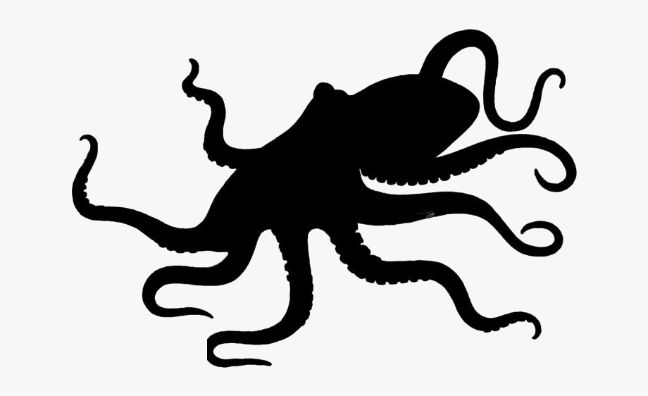 Octopus Clipart Png Black And White.
