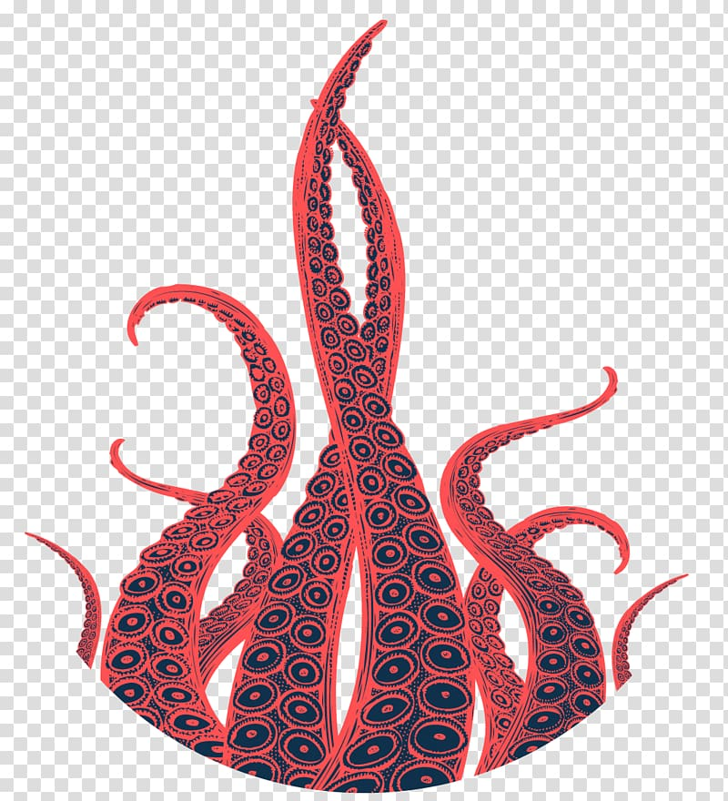 Orange and blue octopus tentacles, Octopus Tentacle Kraken.