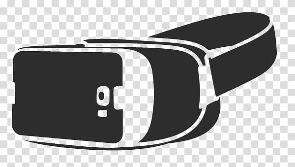 Gray VR box illustration, VR Headset transparent background.