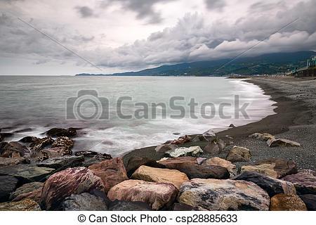 Stock Photos of Pebble Beach in Odawara, Kanagawa, Japan.