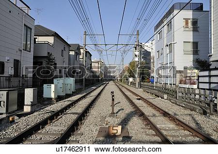 Stock Photography of Odakyu Odawara Line Near Yoyogi.
