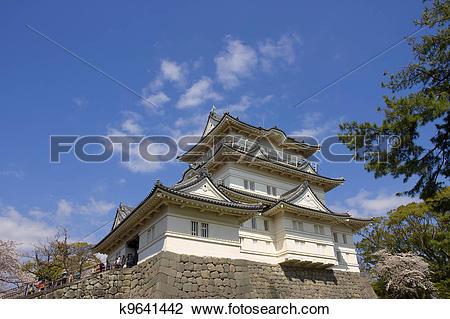 Stock Photo of Odawara castle, Japan. National Historic Site.