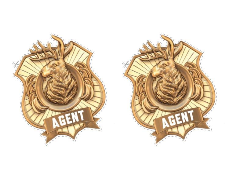 Odd Squad Agent Badges.