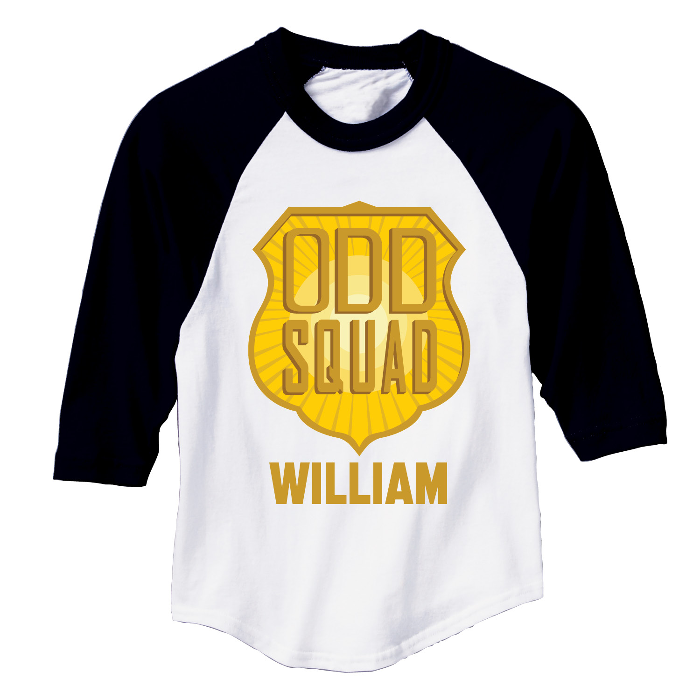 Odd Squad Logo Black Sports Jersey.