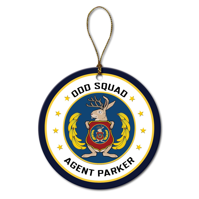 Odd Squad Agent Seal Round Ornament.