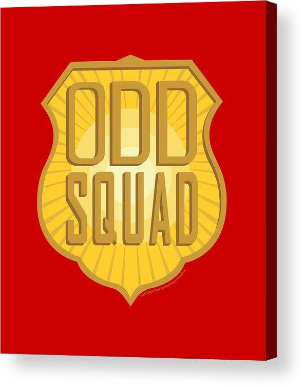 Odd Squad Shield Logo Acrylic Print.
