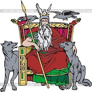 Odin clipart.