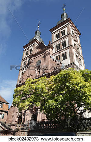 """Stock Photo of """"Abbey church of the former Amorbach Benedictine."""