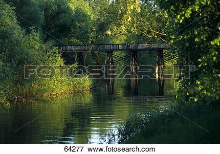 Picture of Bridge across a river, Oder river , Frankfurt.