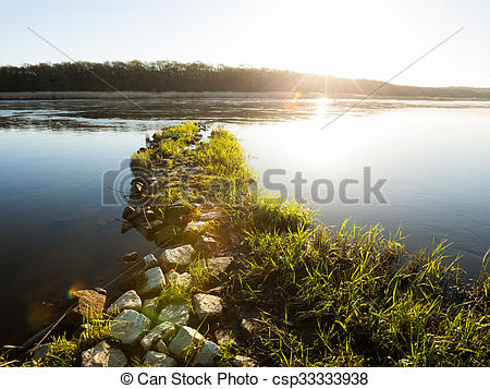 Stock Photos of Oder River, Germany.