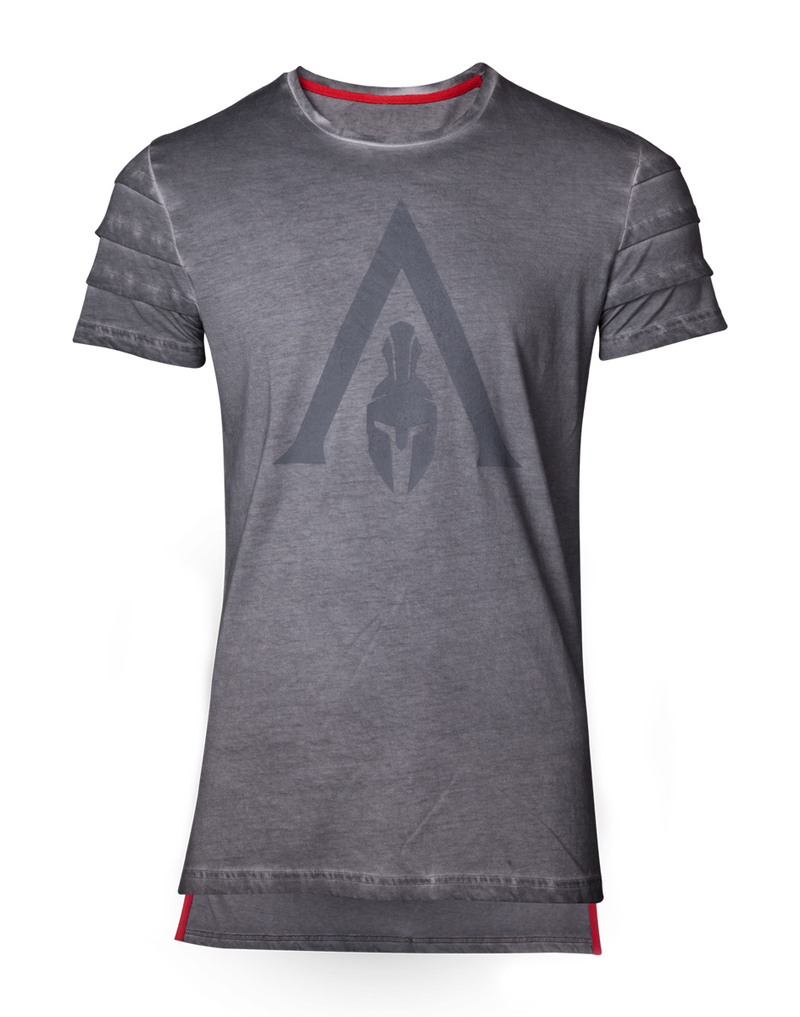 Assassin\'s Creed Odyssey Logo Oil Dye Pintuck Men\'s T.