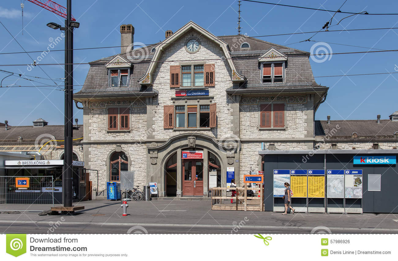 Modern Buildings In Zurich Oerlikon Editorial Photo.