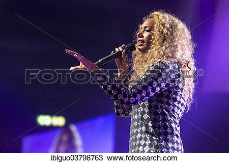 "Stock Photo of ""British singer Leona Lewis performing live at."