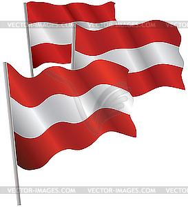 Fahne österreich Clipart.