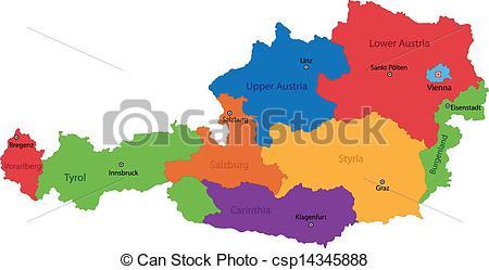 Vektor von Landkarte, österreich.